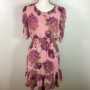 EUC- Gorgeous Betsey Johnson Pink Floral Dress